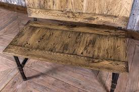 Industrial Style Bench Pipe Bench With Oak Seat Hand Crafted Peppermill Interiors