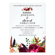 burgundy wedding invitations burgundy wedding invitations announcements zazzle