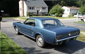 1966 ford mustang coupe blue mustang pinterest ford