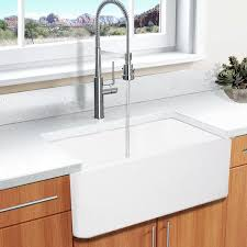 solid surface farmhouse sink highpoint collection white 30 inch solid surface reversible