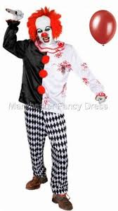 clown balloon l killer clown with balloon fancy dress costume size l xl wear