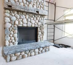 stone slab fireplace hearth fireplace ideas