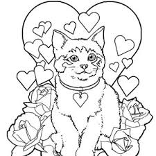 tabby cat coloring pages kitty cat coloring pages bestofcoloring com