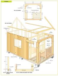 home plan free cottage bunkie cabin plans shed building step by