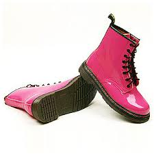 s boots pink womens pink shiny patent combat boots us 6 8 6 ebay
