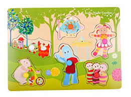 night garden pick place wooden puzzle amazon uk toys