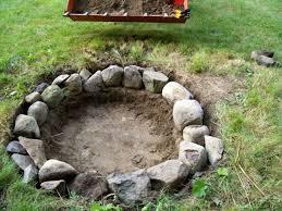 building a backyard fire pit