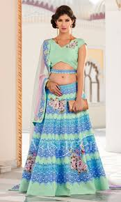 traditional design cyan lehenga choli with blue traditional design lehjdsvt106