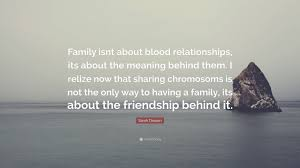 sarah dessen quote u201cfamily isnt about blood relationships its