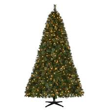 Home Depot Christmas Lawn Decorations by Martha Stewart Living 7 5 Ft Pre Lit Led Alexander Pine Quick Set
