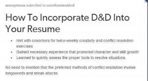 Knock Them Dead Resume D U0026d Goes To Work Part I Adventures In Resume Writing