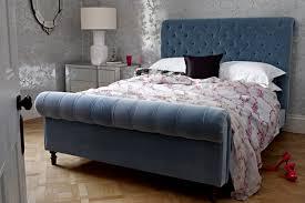 Velvet Sleigh Bed Lovely Luxe Bedroom Ideas Furniture U0026 Designs Houseandgarden