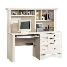 Saunders Computer Desk Sauder Harbor View Collection Computer Desk With Hutch Antiqued