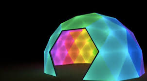 diodome s animated geodesic led dome lightopia s the