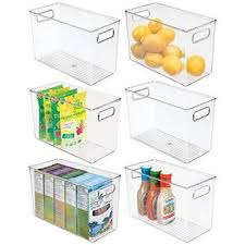 kitchen food storage pantry cabinet mdesign plastic food storage container bin with handles