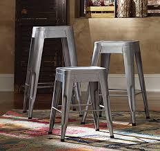 homelegance amara 24in metal counter stool silver 5035sve 24