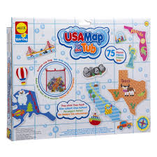 United States Map Compass by Usa Map In The Tub Bath Toys By Alex Toys