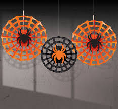halloween spider web fan decorations thepartyworks chainimage