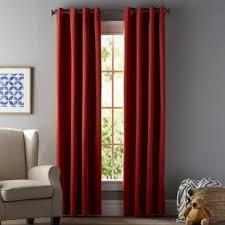 red and black curtains bedroom download page home design red curtains drapes you ll love wayfair