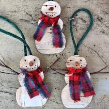 Chili Pepper Christmas Ornaments - birch bark snowman christmas ornament handmade in new hampshire