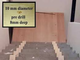 cladding a concrete stair with oak boards