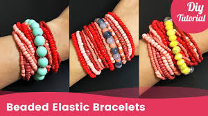 beaded elastic bracelet images How to easily make a beaded elastic bracelet stretch bracelet in jpg