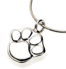 pet ashes necklace pet ashes jewellery mayfair paw necklace