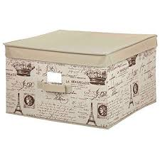 Decorative Storage Bins Storage Box Cube Basket Lid