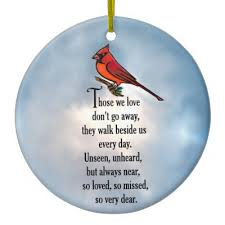 cardinal memorial poem ceramic ornament zazzle
