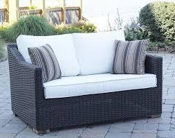 Woven Wicker Patio Furniture - patios cozy outdoor furniture design by portofino patio furniture