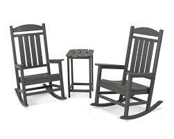 Polywood Jefferson Rocking Chair Polywood Presidential 3 Piece Rocker Set U0026 Reviews Wayfair