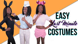 last minute costumes 4 easy halloween costumes youtube