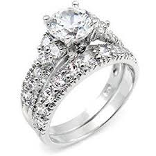bridal sets for sterling silver cubic zirconia cz wedding engagement