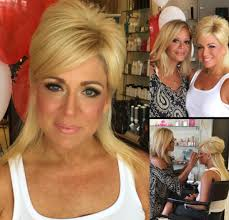 what hair spray does teresa caputo use the beautiful theresa caputo getting her makeup done by gabrielle