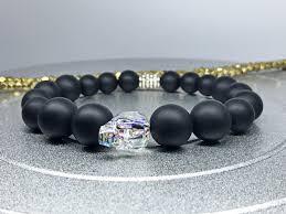 black swarovski crystal bracelet images Men skull bracelet swarovski crystal skull white patina matte jpg