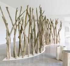 rustic modern houses tree limb natural tree branch room divider