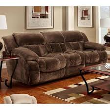 reclining microfiber sofa in champion chocolate nebraska