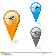 Map Marker Map Marker With Icon Of A Compass Royalty Free Stock Photo Image