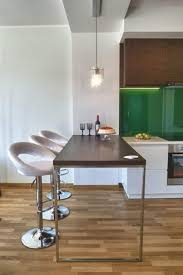 Brilliant 40 Medium Wood Apartment Appliances Wooden Dining Table With Classy White Counter Stool