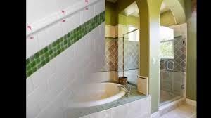 creative bathroom tile border decorating ideas youtube