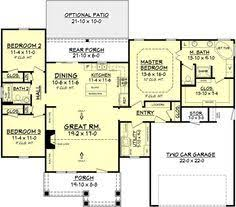 Craftsman Style Homes Floor Plans First Floor Plan Of Craftsman Traditional House Plan 73293 Homes