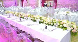 wedding flowers london table floral runner with candles cherie wedding flowers
