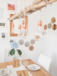 Esszimmer Lampe Kerzen Diy Kupfer Lampe Happy Lifestyle Blog