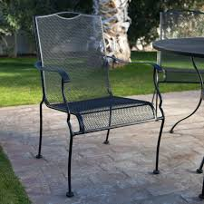 Spring Chairs Patio Furniture Belham Living Stanton Wrought Iron Coil Spring Dining Chair By