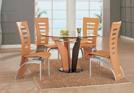 natural wood kitchen table and chairs modern natural wood veneer glass dining table set dining room sets