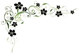 black flower with floral decor vector vector floral vector