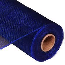 navy blue ribbon navy blue deco poly mesh white 10 ribbon