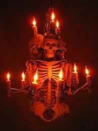 amazon com halloween orange color colored light bulb lite party amazon com skeleton chandelier three harvey jr skeletons