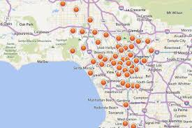 Los Angeles Maps by Mapping Los Angeles U0027s Rash Of Power Outages From That Wild Windy