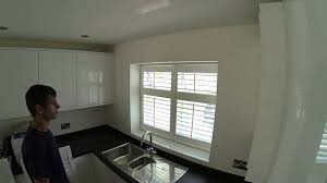 Kitchen Window Shutters Interior How To Fit Window Shutters On A Kitchen Window From Start To
